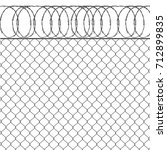 vector illustration metal fence ... | Shutterstock .eps vector #712899835