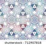 ethnic design. striped... | Shutterstock . vector #712907818