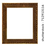 antique golden frame isolated... | Shutterstock . vector #712913116