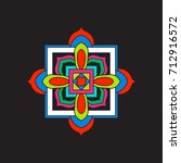 tibet mandala on black... | Shutterstock .eps vector #712916572