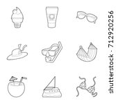 water recreation icons set....   Shutterstock .eps vector #712920256