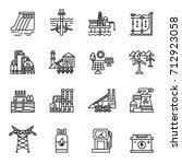 energy industry icons set.... | Shutterstock .eps vector #712923058