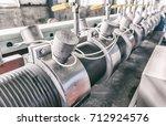 industrial machine in the... | Shutterstock . vector #712924576