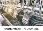industrial machine in the... | Shutterstock . vector #712924606