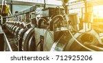 industrial machine in the... | Shutterstock . vector #712925206