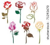 roses sign. bitmap copy my... | Shutterstock . vector #71292670