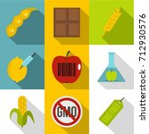 biotechnology icon set. flat...   Shutterstock .eps vector #712930576