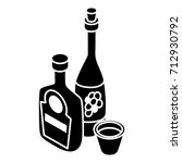 wine  whiskey bottle icon....   Shutterstock .eps vector #712930792