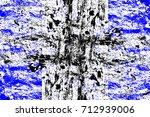 abstract grunge blue dark... | Shutterstock . vector #712939006