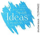 vector conceptual creative idea ... | Shutterstock .eps vector #712949602