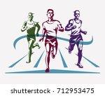 running athletes symbol  sport... | Shutterstock .eps vector #712953475