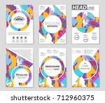 abstract vector layout... | Shutterstock .eps vector #712960375