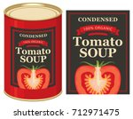 vector illustrations set of tin ... | Shutterstock .eps vector #712971475