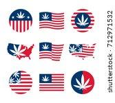 american flag  usa map and...