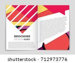 abstract vector layout... | Shutterstock .eps vector #712973776