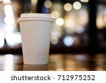 take away coffee cup empty... | Shutterstock . vector #712975252