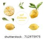 watercolor ornament is a lemon... | Shutterstock . vector #712975975