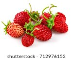 berry wild strawberry with... | Shutterstock . vector #712976152