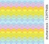 wave of the sea. rainbow... | Shutterstock .eps vector #712979686