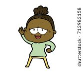 cartoon happy old lady   Shutterstock .eps vector #712982158