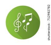 music flat design long shadow...   Shutterstock .eps vector #712982782