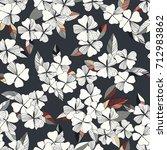 flowers seamless pattern .... | Shutterstock .eps vector #712983862