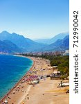 beach at antalya turkey  ... | Shutterstock . vector #712990042