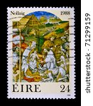 ireland   1988  a stamp printed ... | Shutterstock . vector #71299159