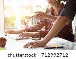 designer graphic team creative...   Shutterstock . vector #712992712