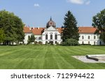 Garden of the Royal Palace of Godollo in Hungary.