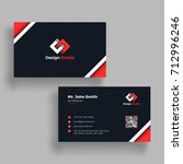 horizontal  business card with...   Shutterstock .eps vector #712996246