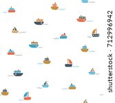 cute seamless pattern with... | Shutterstock .eps vector #712996942