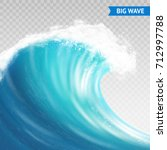 big sea or ocean wave with... | Shutterstock .eps vector #712997788