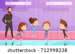 kids sport flat vector... | Shutterstock .eps vector #712998238