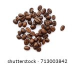 coffee beans. isolated on white ... | Shutterstock . vector #713003842