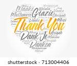 thank you love heart word cloud ... | Shutterstock .eps vector #713004406