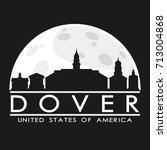 Dover Full Moon Night Skyline...