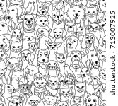 hand drawn seamless pattern... | Shutterstock .eps vector #713007925