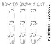 drawing tutorial for children ... | Shutterstock .eps vector #713007982