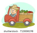 illustration of a middle aged... | Shutterstock .eps vector #713008198