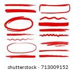 hand drawn shapes oval  circles ... | Shutterstock .eps vector #713009152
