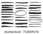 markers highlight monochrome... | Shutterstock .eps vector #713009176