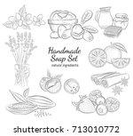 Handmade Soap Set. Isolated...