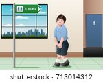 illustration of a kid want to...   Shutterstock . vector #713014312