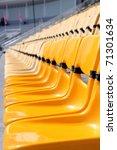 perspective of yellow seat in... | Shutterstock . vector #71301634