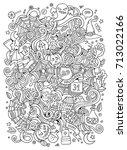 cartoon cute doodles hand drawn ... | Shutterstock .eps vector #713022166
