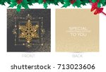 merry christmas and new year... | Shutterstock .eps vector #713023606