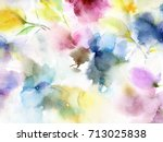 Stock photo floral background watercolor floral background greeting card wedding invitation template floral 713025838