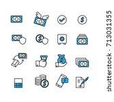 money set icons vector | Shutterstock .eps vector #713031355