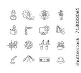 simple engineer icons set vector | Shutterstock .eps vector #713033065